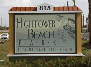 hightower beach park sign