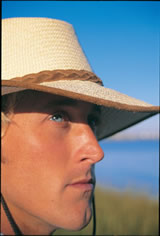 Mens and womens straw hats from Australia