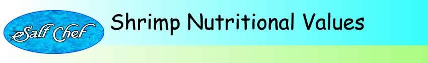 nutritional values of shrimp