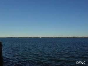 view of st andrews bay from boat ramp