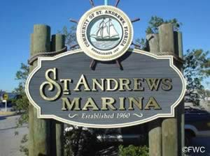 st andrews marina sign