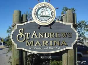 st andrews marina sign