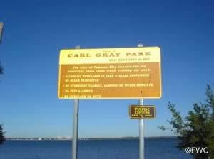 sign at carl gray park