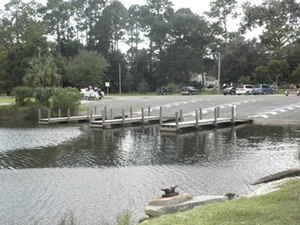 boat ramp at leslie port park in lynn haven, fl