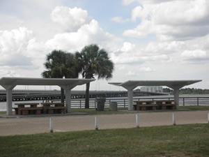 picnic pavilions at leslie porter along waters edge