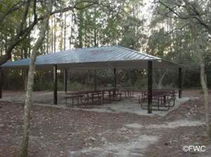 picnic pavilions at mccal everitt park bay county florida