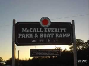 mccall everitt park and boat ramp sign