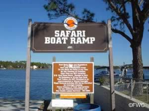 safari ramp sign