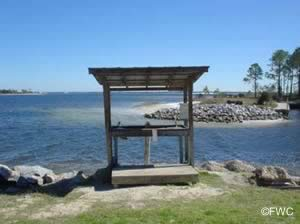fish cleaning station at st andrews state park boat ramp
