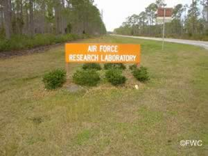 research road on tyndall afb sign