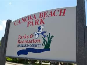 canova beach park sign