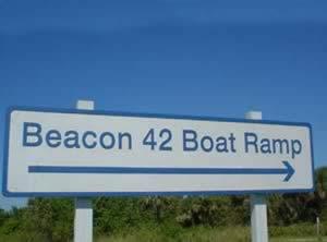 beacon 42 boat ramp sign