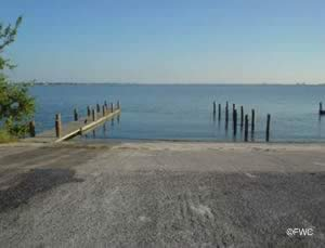 eau gallie causeway boat launching ramp