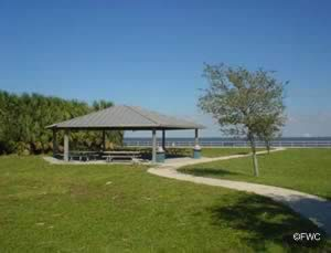 picnic pavilion at the kennedy point park ramp titusville