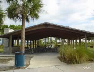 picnic pavilion at lee wenner park and boat ramp cocoa florida