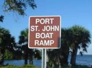 port st john boat ramp sign