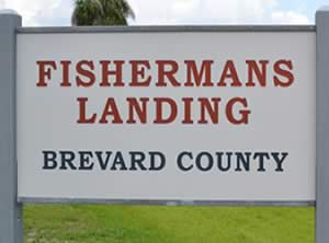 sign at fisherman's landing grant