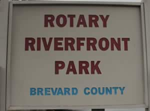rotary riverfront park sign titusville fl