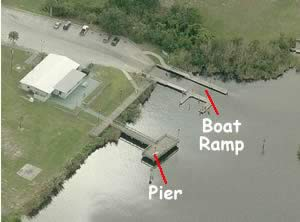 fishing pier at alex goode park palm bay florida