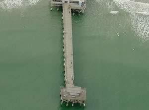 Aerial Of Cocoa Beach Pier