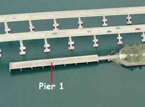 fishing pier at Intracoastal waterway park merritt island causeway