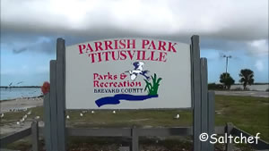 sign at entrance to parrish park