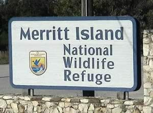 entrance sign merritt island national wildlife refuge