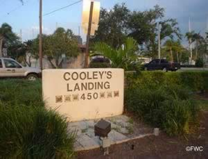 sign at cooley's landing boat ramp