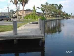 staging dock at Oakland Park Cherry Creek boat ramp florida