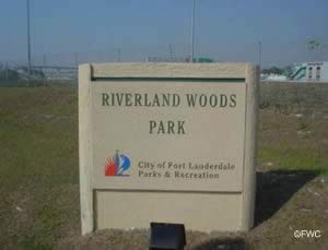 riverland woods saltwater boat ramp sign
