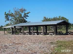 picnic pavilion at hugh taylor birch state park broward county florida
