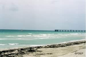 beach at john lloyd state park broward county florida