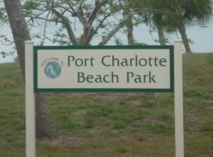 sign at port charlotte beach park