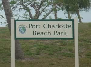 sign at port charlotte beach park