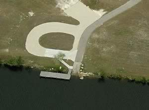 aerial view of butterford boat ramp port charlotte