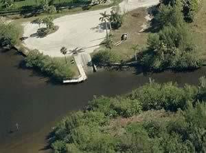 aerial view of darst boat ramp punta gorda