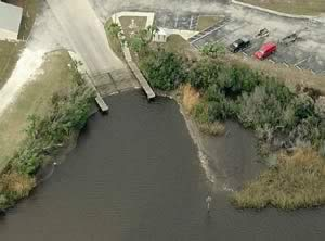 aerial view of harbour heights boat ramp punta gorda