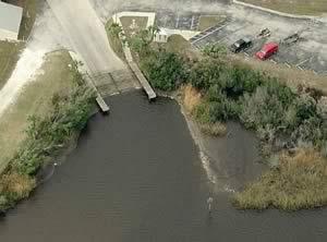 aerial view of harbour heights boat ramp punta gorda