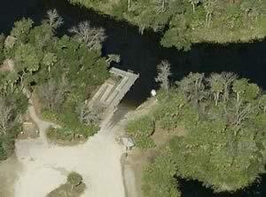 aerial view of hathaway park ramp punta gorda