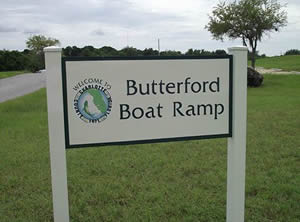 butterford boat ramp sign