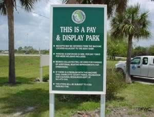 pay and display parking at el jobean park boat ramp