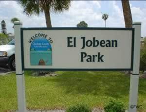 el jobean boat ramp sign