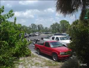 boat trailer parking at placida boat ramp charlotte county