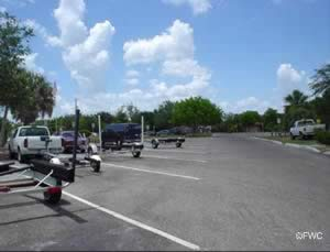 boat trailer parking at ponce de leon boat ramp in punta gorda fl