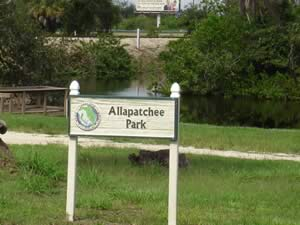 allapatchee shores park sign punta gorda florida