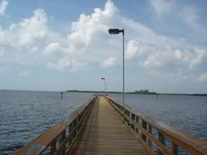 fishing pier at port charlote beach park