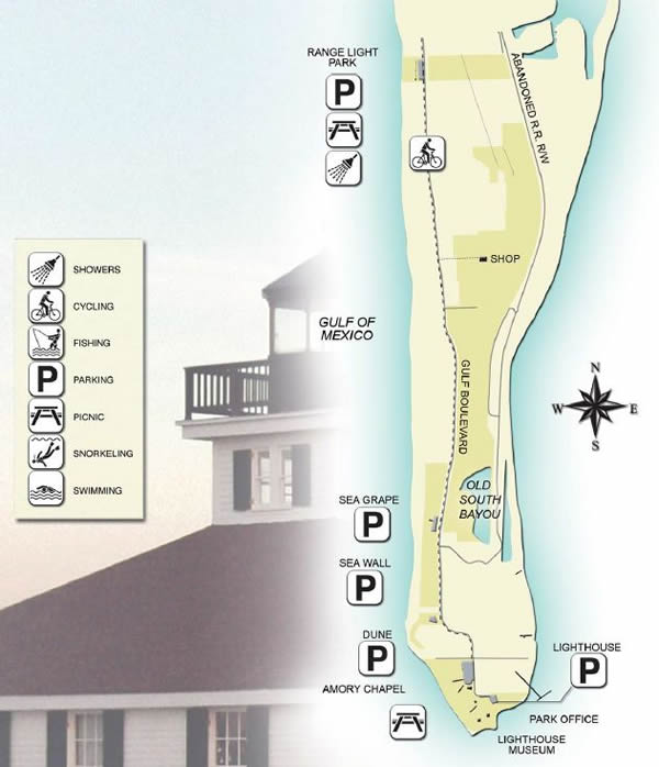 map of gasparilla state park