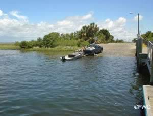 boat launching ramp fort island beach citrus county florida