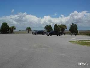 parking lot at fort island beach
