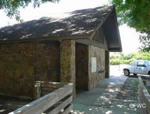 restrooms at fort island trail park